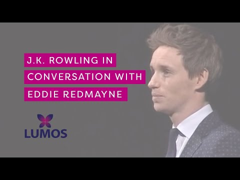 J.K. Rowling in conversation with Eddie Redmayne at Carnegie