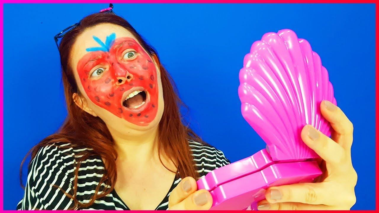 çilek Kızı Yüz Boyama Makyajı Yaptık çocuk Makyaj Video Youtube