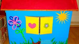 Activity cardboard Playhouse Spielhaus aus Karton selber bauen -DIY