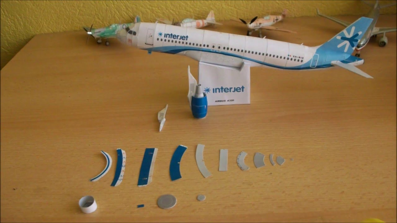 Papercraft Interjet A320 Papercraft
