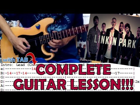 Numb - Linkin Park(Complete Guitar Lesson/Cover)with Chords and Tab