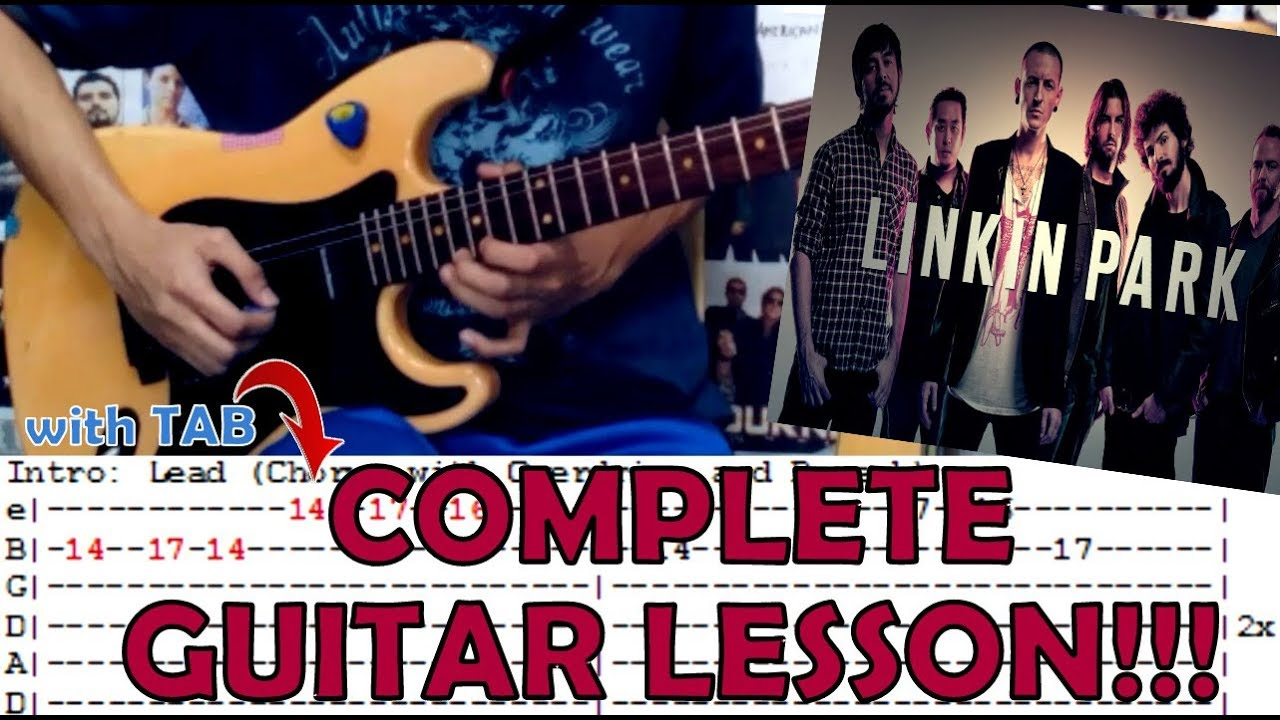 Numb Linkin Parkcomplete Guitar Lessoncoverwith Chords And Tab