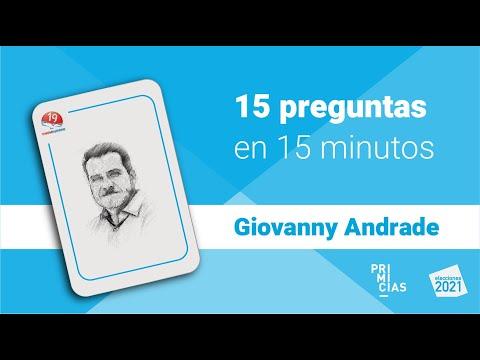Entrevista con Geovanny Andrade, candidato presidencial de Unión Ecuatoriana