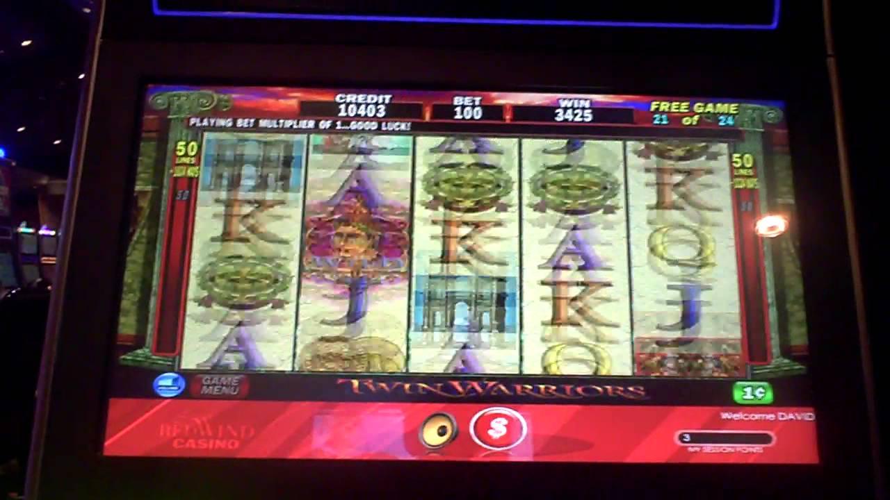 Twin warrior slot machine