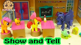 My Little Pony School Shopkins Show and Tell Day - MLP LPS Play Video ft MyFroggyStuff