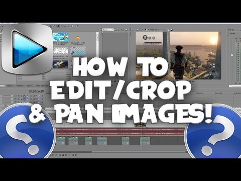 Sony Vegas Pro: How To Mask,  Move, Crop And Pan Images & Videos-(Remove Black Bars)