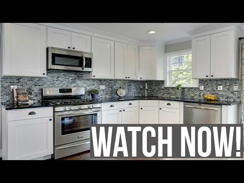 White kitchen cabinets ideas - YouTube