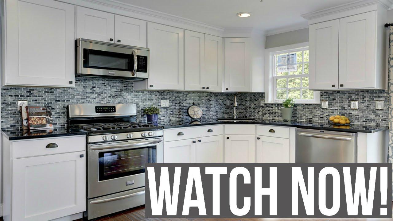 White kitchen cabinets ideas - YouTube