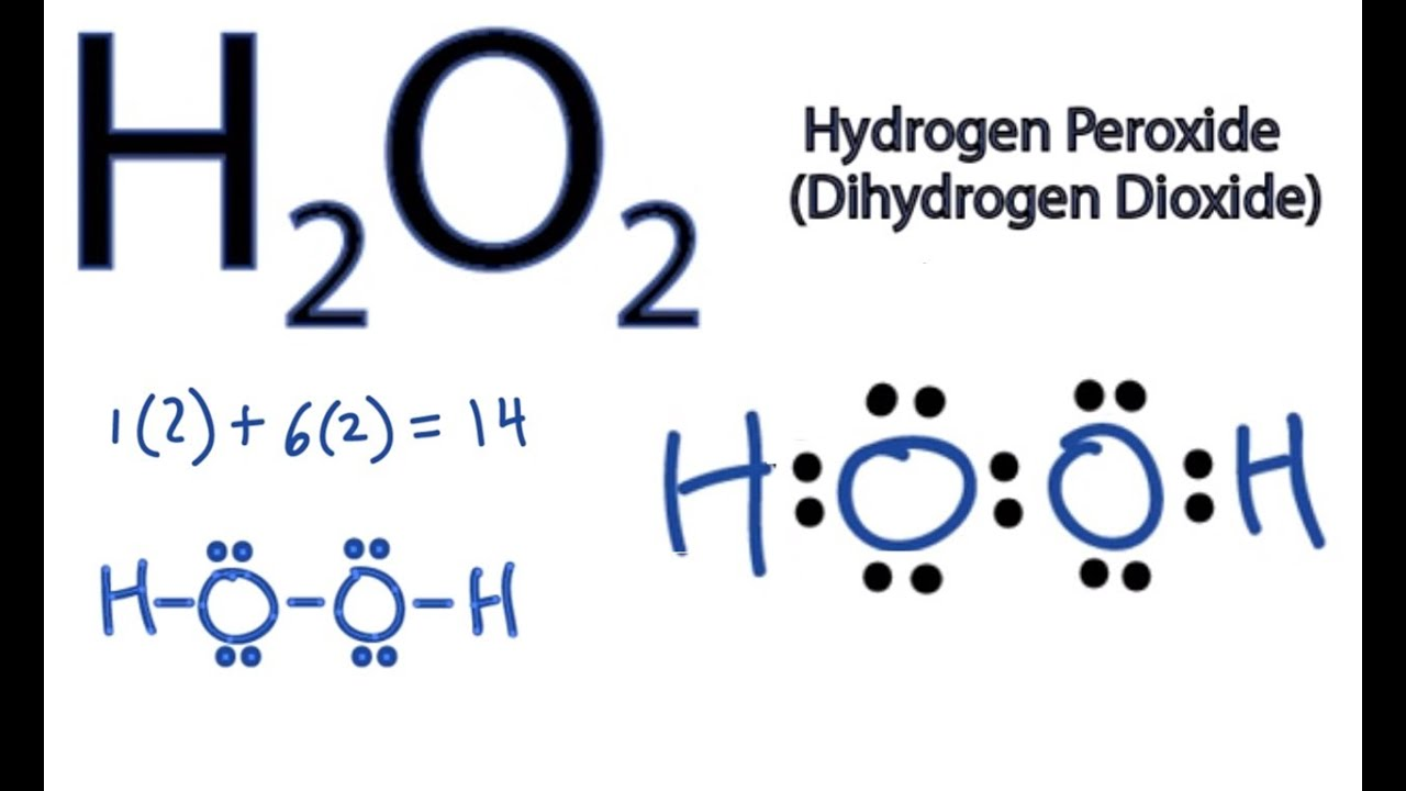 h2o2 lewis structure how to draw the dot structure for h2o2 [ 1280 x 720 Pixel ]