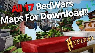 16 Hypixel's BedWars maps + BedWars lobby for Download!