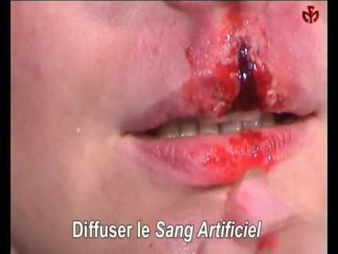 Vidéo maquillage plaie à la lèvre,Ylea.eu