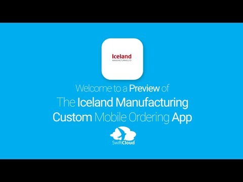 Iceland Manufacturing - Mobile App Preview ICE169W