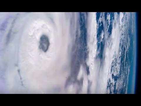 International Space Station Passes Over Cyclone Enawo