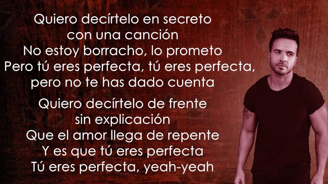 Luis Fonsi, Farruko - Perfecta (Letra/Lyrics)