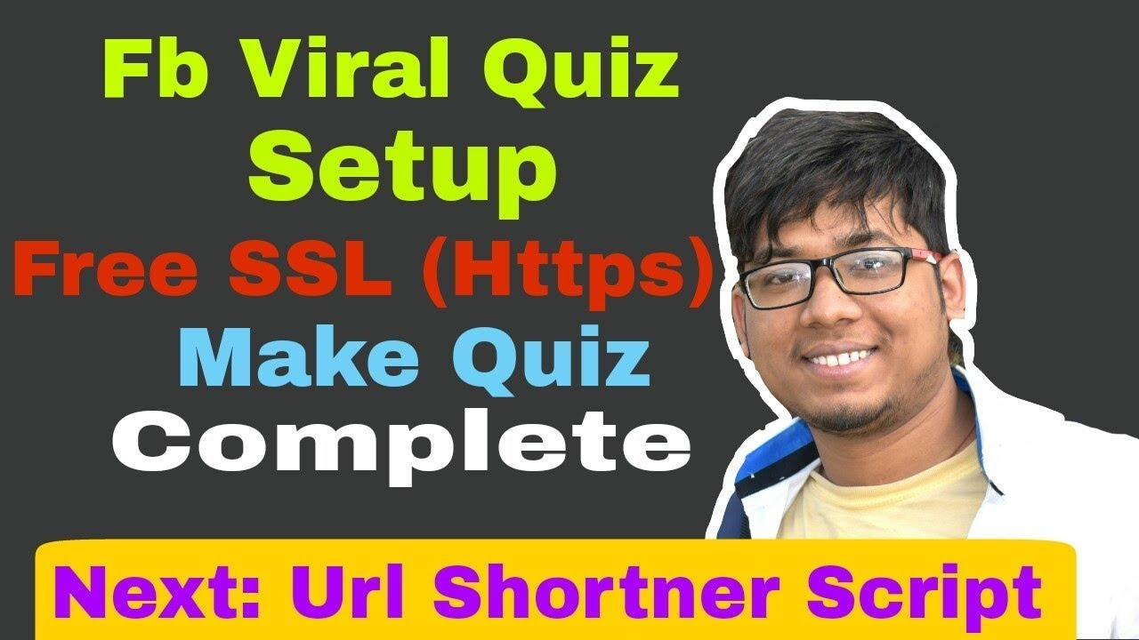 Fb Viral quiz complete Setup | Free SSL in Hindi