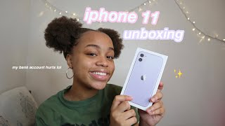 iphone 11 unboxing (my bank account isn't okay) | seasonsofshai