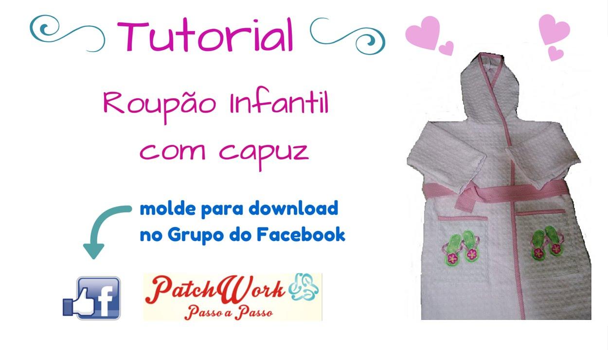 Roupão Infantil ~ Roup u00e3o Infantil com Capuz YouTube