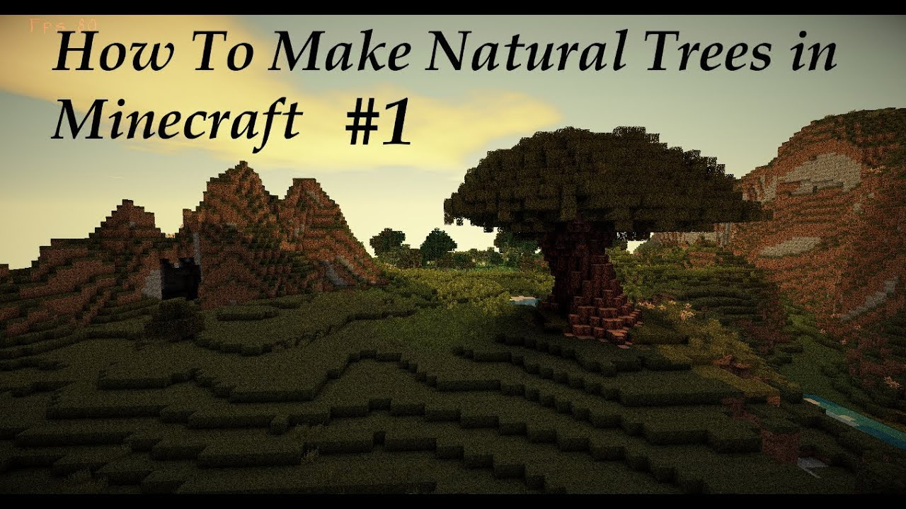 How To Build A Natural Tree In Minecraft Part 1 Of 3 HD YouTube