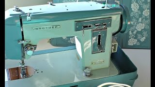 How to use a Vintage Brother sewing machine J-A 28 (download the manual)
