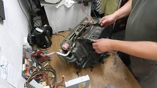 замена испарителя w124 - разборка корпуса печки часть 3