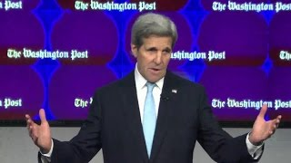 Secretary Kerry Delivers Remarks at The Washington Post