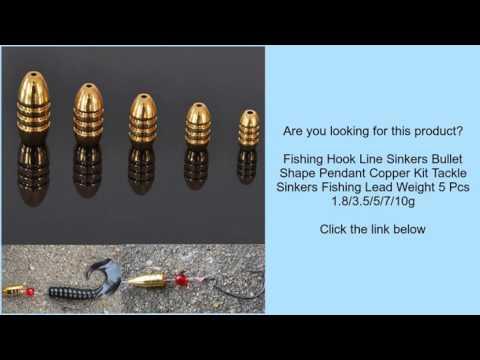 Fishing Hook Line Sinkers Bullet Shape Pendant Copper Kit Tackle Sinkers  Fishing Lead Weigh
