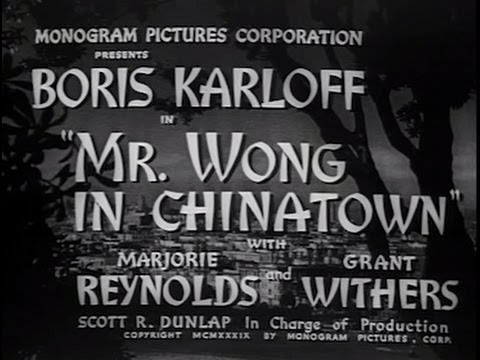 Mr. Wong in Chinatown 1939 Crime Mystery