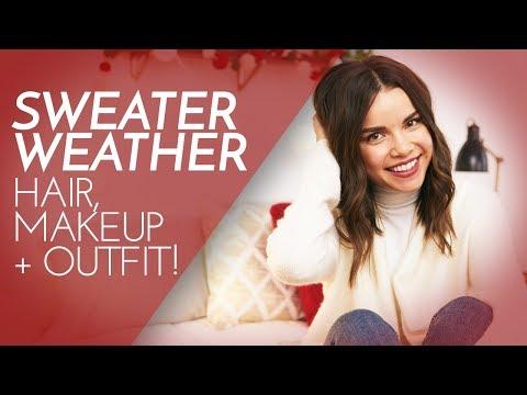 Sweater Weather: Hair, Makeup  Outfit!  Ingrid Nilsen