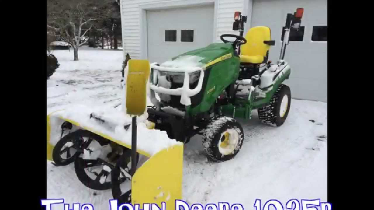 John Deere 1026r Loader Snow Plow : Snowblowing made easy with john deere r attachment