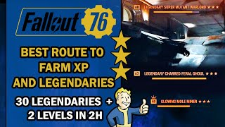 Fallout 76 Guide – Best ROUTE to FARM XP and LEGENDARY Items in End-Game - 30 Items & 2 Levels in 2H