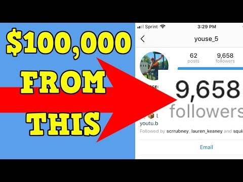 $100,000 from a SMALL Instagram Following/YouTube HERES HOW I DID IT