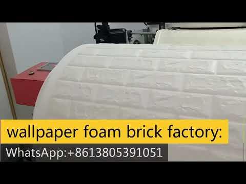 wallpaper foam brick