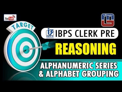 #Target | ALPHANUMERIC SERIES & ALPHABET GROUPING | REASONING | #ibpsclerkpre