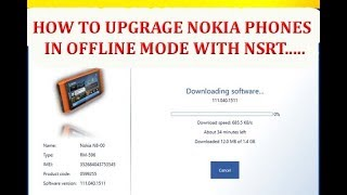 how to flash nokia phones in offline mode with nokia software recovery tool (NSRT)