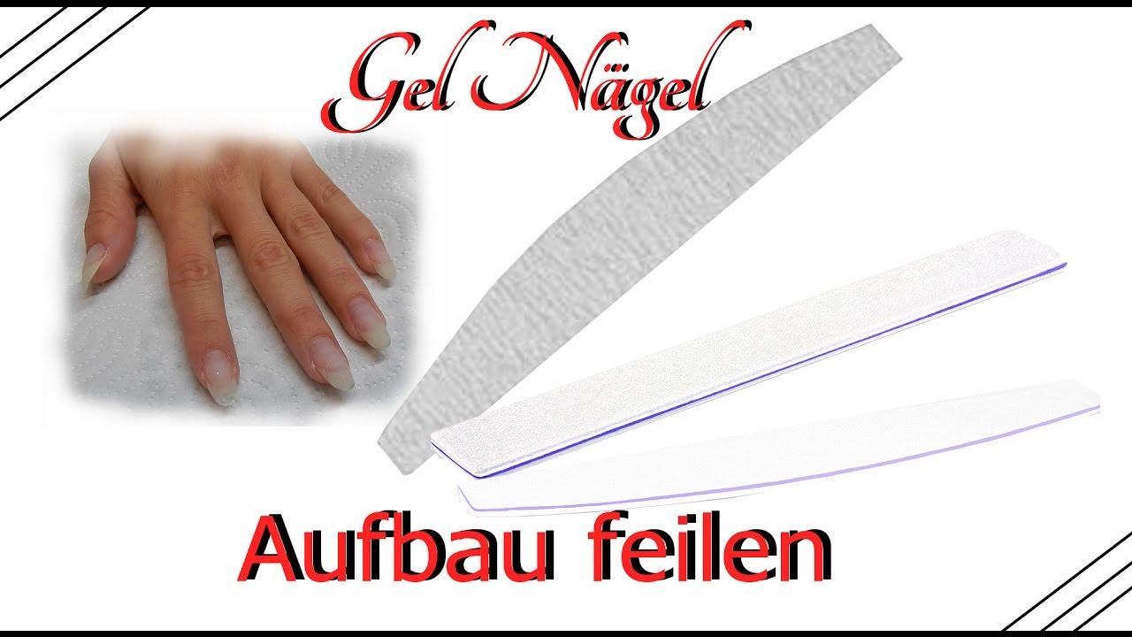 gel n gel richtig befeilen aufbau feilen feiltechnik gel nails correct files youtube. Black Bedroom Furniture Sets. Home Design Ideas