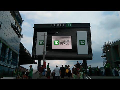 Game-day tour of TD Place Stadium (Ottawa Redblacks - Canadian Football League) in Ottawa, Canada