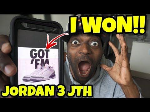 "OMG I Won The Jordan 3 JTH ""Justin Timberlake Jordan 3"""