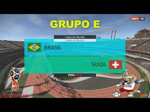 BRASIL VS SUIZA   PES 2018   GRUPO E # 1   FIFA World Cup   OPTION FILE broadcast camera
