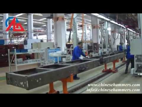 Production Line - Hydraulic rivet setting machine for truck frame