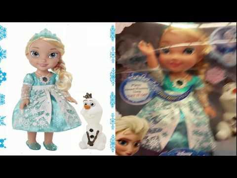 New Frozen Toys : Frozen Snow Glow Singing Elsa Doll