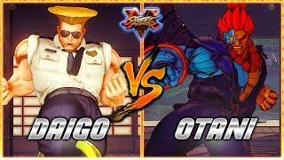 SFV/SF5 AE - Daigo's Guile against Otani's Akuma (Cyber Akuma Outfi...