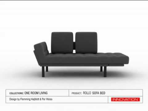 Smart Rollo sofa bed by INNOVATION - YouTube CH14