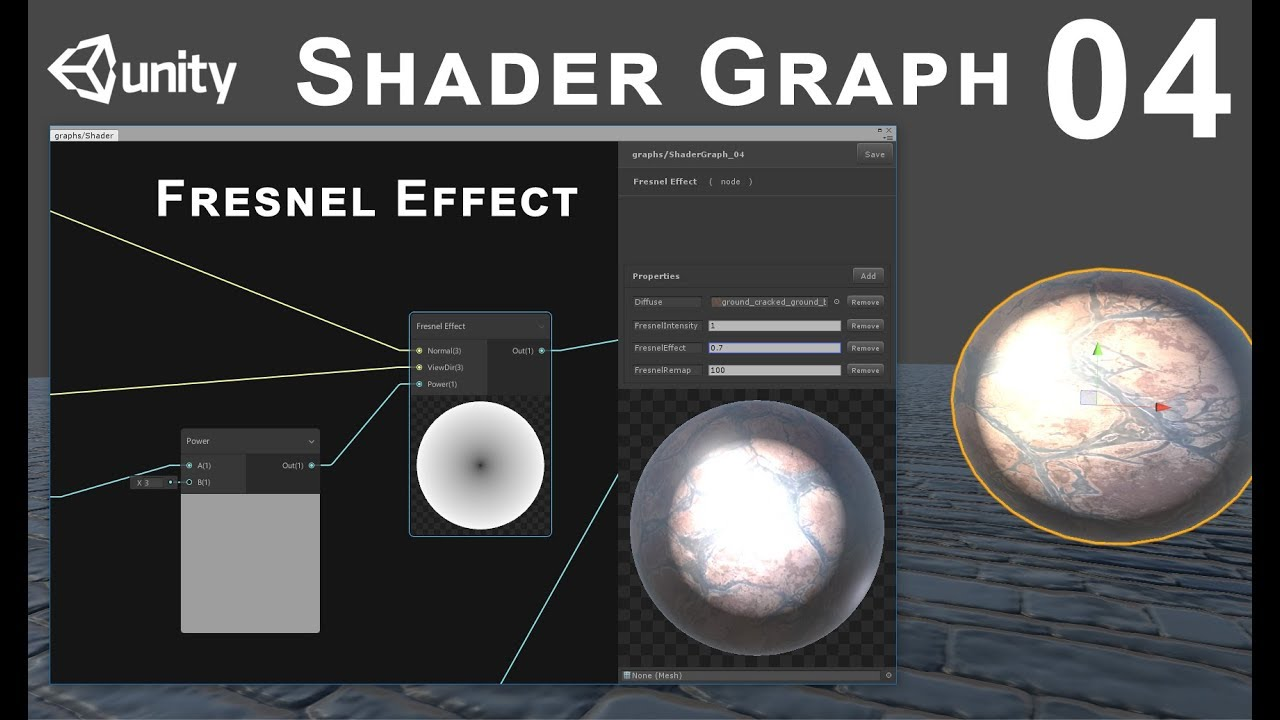 Unity 2018 Shader Graph / Editor - Tutorial 04: Fresnel Effect