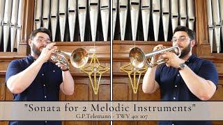 Sonata for 2 Melodic Instruments - G.P.Telemann - TWV 40: 107