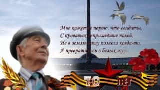 Футаж видео - открытка HD День Победы - журавли