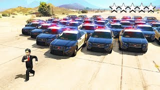 Trying To ESCAPE a 5 STAR WANTED LEVEL as a 7 YEAR OLD in GTA 5!