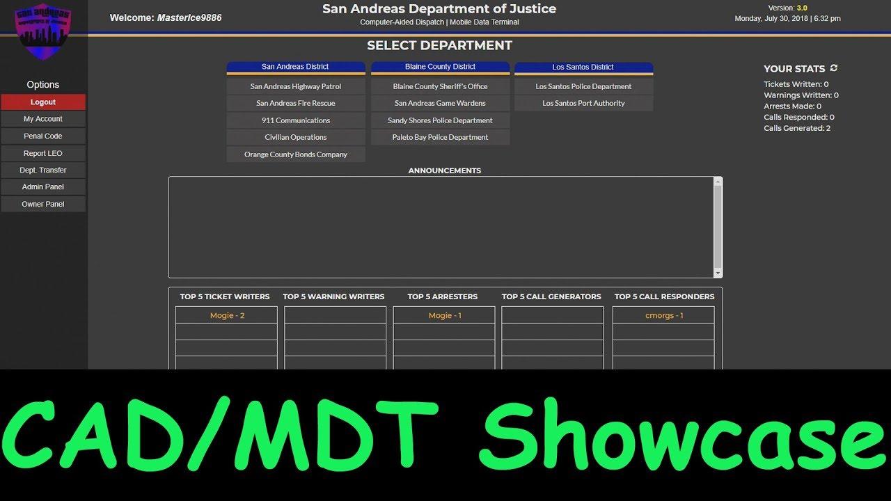 SA DoJRP | New CAD/MDT Showcase