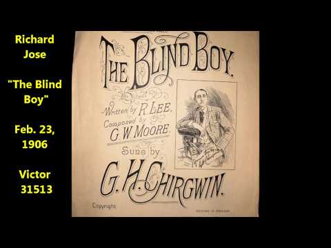 "Richard Jose ""The Blind Boy"" RARE Victor disc = countertenor covers song done by George H. Chirgwin"