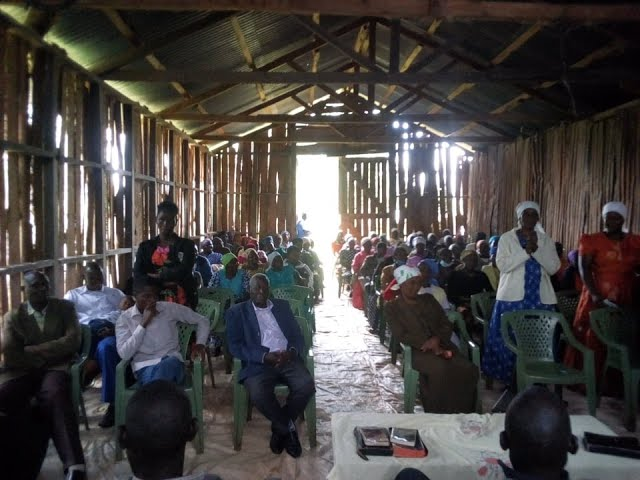 4 Western Kenya Fellowhships Congregate in a Corn Storehouse