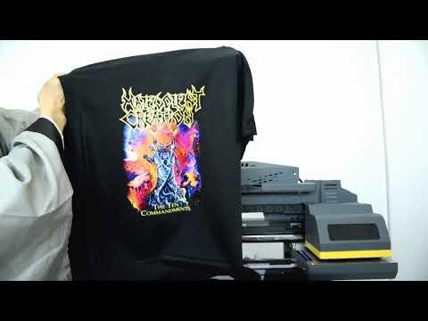 Step16 Dark T shirt printing process - Focus Vega-Jet DTG printer
